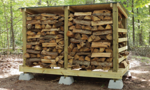 outdoor firewood shed