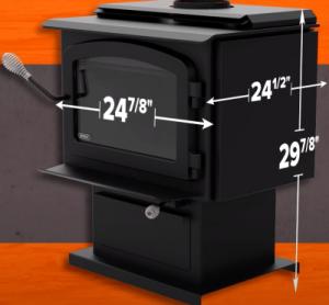 Drolet Escape 1500 dimensions